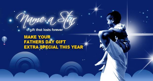 Show dad that he really is a Star by dedicating one to him this Father's Day for just R99 (value R200)