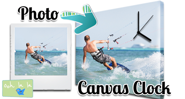 Create your own personalised A3 printed Canvas Clock through Oohlala for only R299 (value R599)!