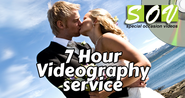 Get a 7 hour professional wedding videography service for R2990 (value: R7000)