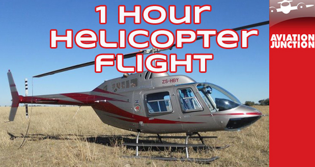 Fulfill your chopper fantasy with a one-hour helicopter flight from Aviation Junction for only R2 299 (value: R3 950)