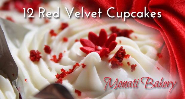 Treat yourself or a loved one with 12 delicious Red Velvet Cupcakes for only R119 (value: R204)