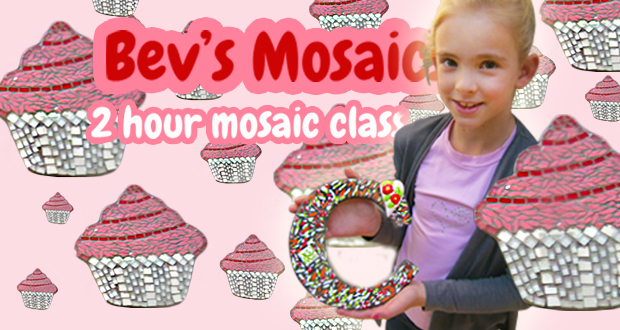 Tap into the kids' creativity with a two-hour Mosaic workshop with Bev for R129 (value R275)