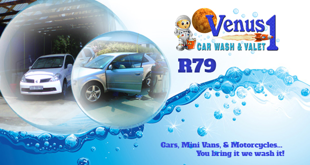 Treat your car to the Executive Wash and Body Polish special from Venus 1 (Bryanston, JHB) for just R79 (value: R199 )