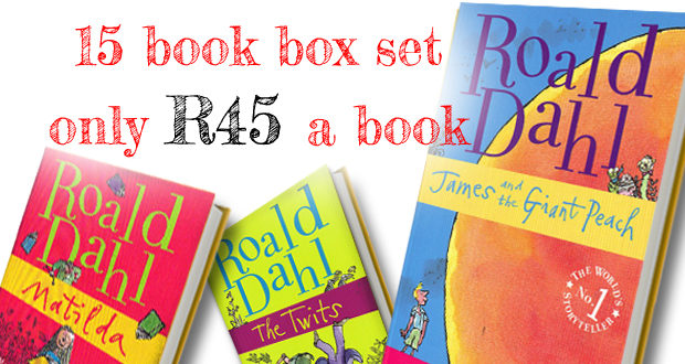 Buy Roald Dahl's Phizz-whizzing collection: A boxed set of 15 titles from Basically Books, including delivery, for R675 (delivery via courier in Jhb, via postal service to other areas) (value R1 500)