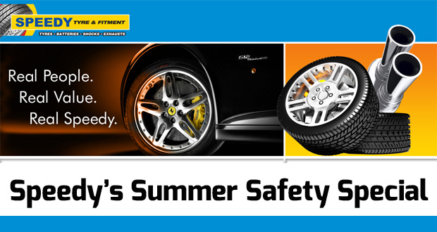 Speedy's Summer Safety Special: Get peace of mind for R99 (value: R300)(JHB – Crown Mines)