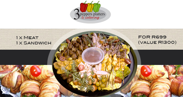 Entertaining made easy with this platter deal for R399 (R735 value) plus an additonal R100 discount voucher.