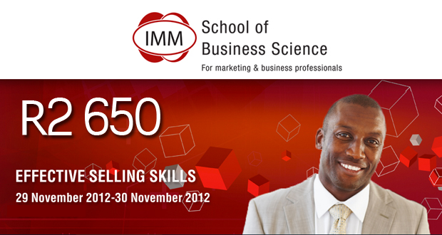 Improve your skills with a business report writing or sales management course from IMM for R2 650 (value R5 300) (Jhb)