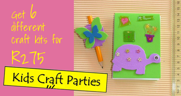 Inspire creativity with these perfect Christmas kids craft packs: 6 Craft kits plus 2 Bonus artsy items from Kids Craft Parties (Randburg) for R275 (value: R550)