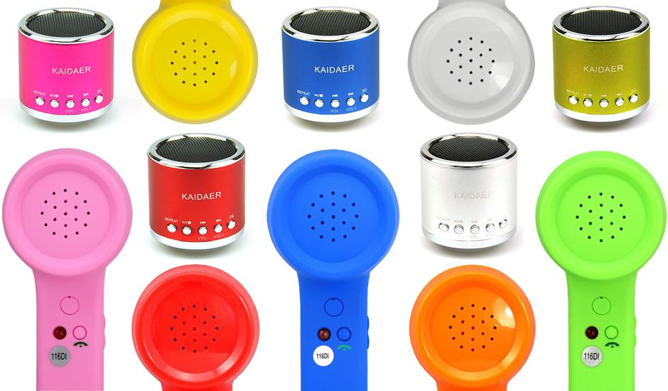 Retro Skype Handsets & Metallic Portable Speakers