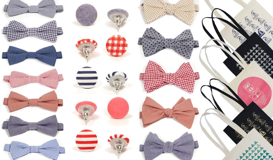 Mod Geeky Bow Ties & Bold Button Earrings From R99