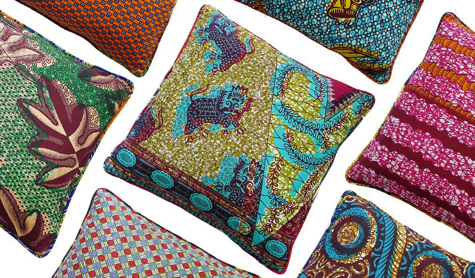 Bold & Retro African Textile Cushion Slips