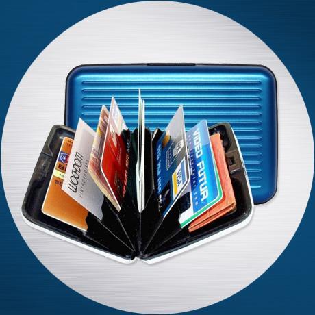 Metallic Aluminium Card Holders