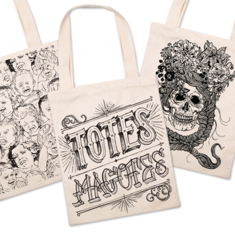 Canvas Bags With Alice Edy Designs