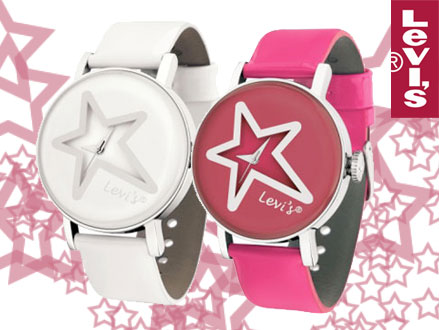 Pay R379 for a Levi's White Star Style Ladies Watch in either White or Pink, valued at R1099 from DealClick Goods (66% Off). Nationwide Delivery Included