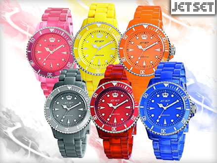 Pay R265 for a Jet Set Addiction Ladies Watch in a Range of Funky Colours, valued at R599 from DealClick Watches (56% off). Nationwide Delivery Included