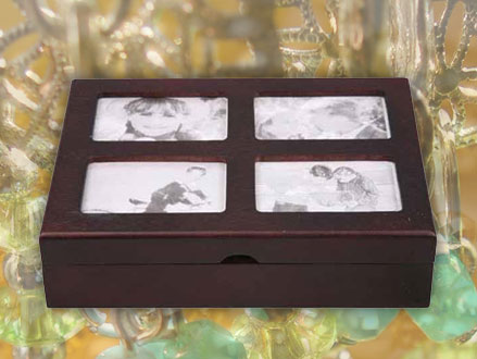 Pay R199 for an Imported Dark Mahogany Jewellery Box With 4 Photo Frames, valued at R599 from DealClick Collection (67% off). Nationwide Delivery Included.