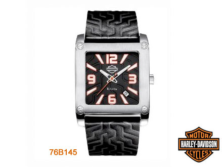 Pay R1099 for a Harley Davidson 76B145 Men's Leather Strap Square Watch, valued at R3799 from DealClick Watches (72% off). Nationwide Delivery Included