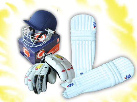 Get Ready To Play Some Cricket! Pay R745 for a Senior County Cricket Set Consisting of a Helmet, Gloves, and Leg Pads, valued at R1305 from SNT Sports (43% off). Nationwide Delivery Included
