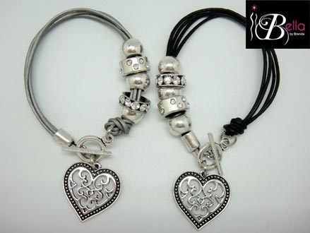 Wear Your Heart on Your Sleeve! Pay R169 for a Leather Heart Bracelet, valued at R339 from Bella Costume Jewellery (51% off)