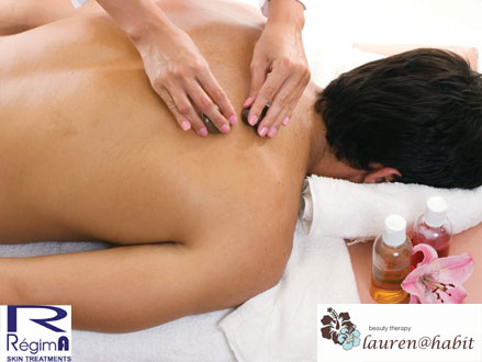 Pamper Package Deluxe! Pay R450 for a Deluxe Package Consisting of a Manicure, Pedicure, Full Body Massage, Eyelash and Brow Tint, 30 Minute Reflexology Foot Massage,and a 20% RegimA peel, valued at R1340 from Lauren@Habit, Fourways (67% off)