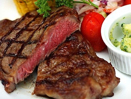 Enjoy a Delicious Dinner for 2! Pay R125 for 2 x 300g Rump Steaks with Starch and Hot Veggies Plus 2 Glasses of House Wine, valued at R256 from Legends Grill (52% off)