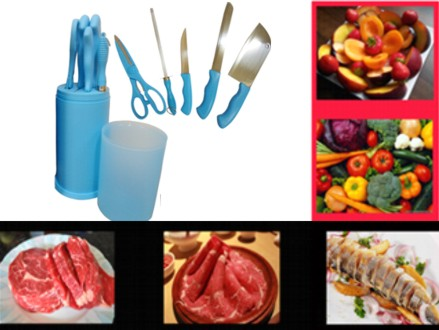 Pay R249 for a Practical 6 Piece Kitchen Knives Block Set, valued at R465 (% off). Nationwide Delivery Included