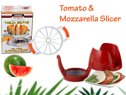 Pay R185 for a Melon Slicer, as well as a Tomato & Mozzarella Slicer, valued at R499 (63% off). Nationwide Delivery Included