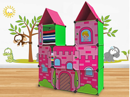 Pay R1099 for a Girls' Princess Castle Storage Cabinet, including National Delivery (worth R1999)