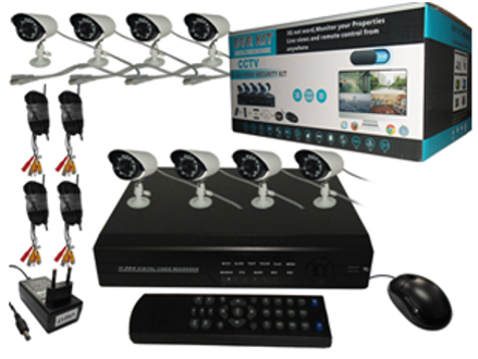 Pay R4599 for a High Definition DIY 8 Channel HDMI Network Security Camera Set Including National Delivery (worth R8500)