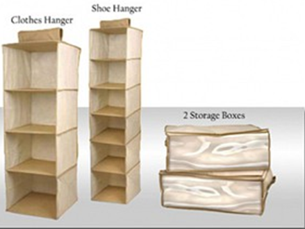 Pay R199 for a 4 Piece StowAway Organiser Closet Set, inclduing National Delivery (worth R399)