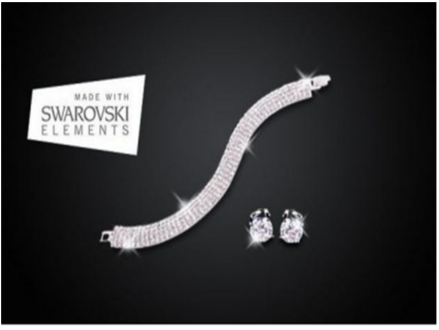 Pay R349 for a 5 Row Pave Tennis Clear Bracelet and Earrings Duo Set Including National Delivery Valued At R1818