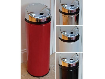Pay R899 for a Fine Living Round Sensor Bin in Red, Black, White or Stainless Steel Including National Delivery Valued at R1449