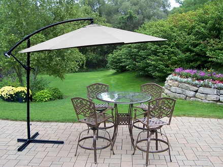 Pay R1099 for a Fine Living Cantilever Umbrella in Green, White or Burgundy Including National Delivery Valued At R1899