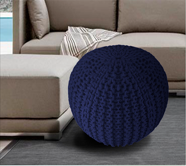 Buy One, Get One Free Special! - Pay R319 For A 100% Cotton Blue Pouf Including National Delivery Valued At R629