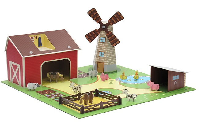 Save 30% on Kroom Kids Play Sets: Noah's Ark or Farmyard.