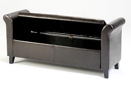 Dark Brown Ottoman Storage Bench, Including Delivery - DealZone 42% Discount Deal In South Africa - Dark Brown Ottoman