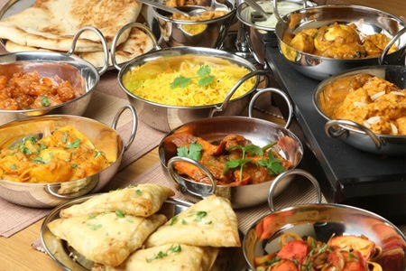 Meat or Veg Platter and a Main Course from Maharaja Indian Restaurant