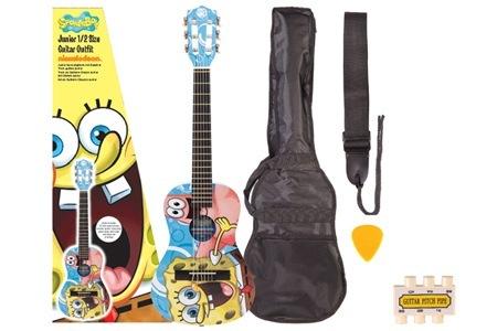 SpongeBob SquarePants Junior Guitar Package, Including Delivery