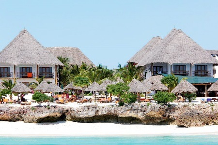 Zanzibar: All Inclusive Getaway with Flights Per Person Sharing at The Ora Resort My Blue Hotel with Africa Stay