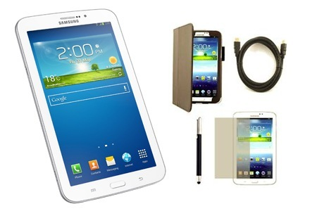 "7"" Samsung Galaxy Tab 3 Bundle - Wi-fi Only, Including Delivery"