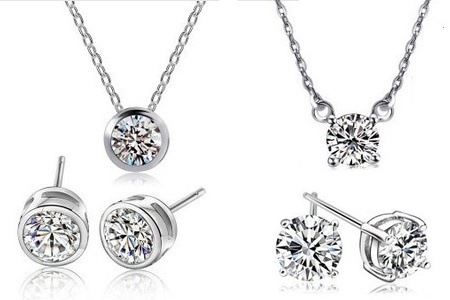 Swarovski Elements Solitaire Pendant and Earring Sets for R199.99 Including Delivery (50% Off)