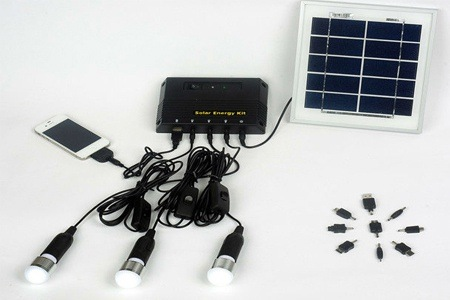 Solar Energy Kit with Mobile Phone Charger Connectors for R799 (50% Off)
