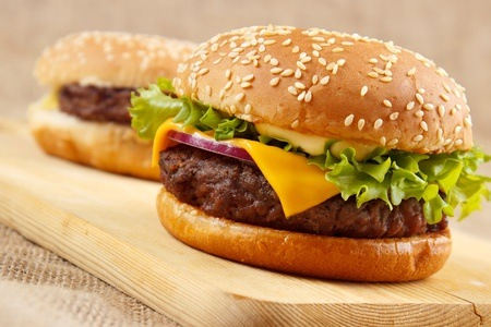 Burger or Meaty Roll at Food Lovers Restaurant
