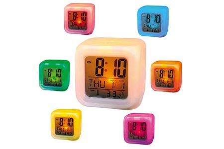 Colour Changing LED Alarm Clock for R119.99 Including Delivery (50% Off)