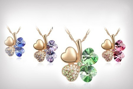 Crystal Clover Necklace with Swarovski Elements for R179.99 Including Delivery (55% Off)