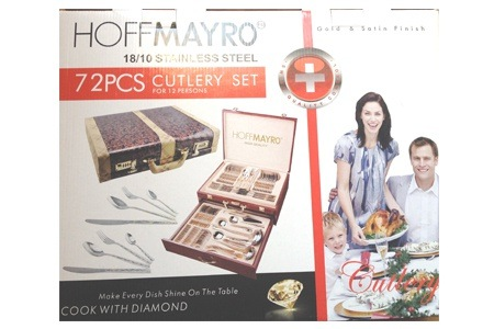 Hoffmayro 18/10 Stainless Steel 72-Piece Cutlery Set for R799.99 Including Delivery (47% Off)