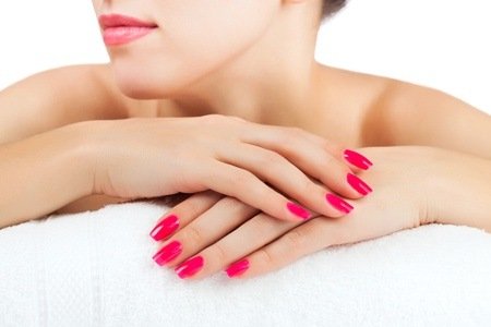 Manicure and Pedicure with Gel Overlays at i-Lashes