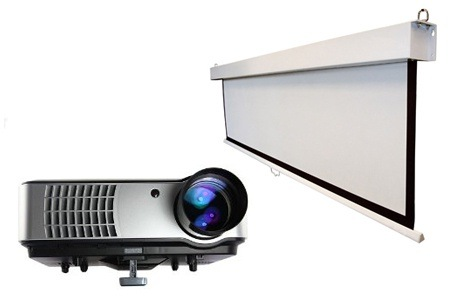 HD LED Projector and Screen from R4 499 Including Delivery (Up to 39% Off)