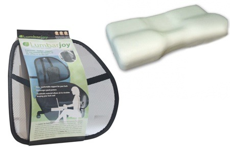Orthopedic Pillow and Lumbar Joy Combo for R399.99 Including Delivery (33% Off)