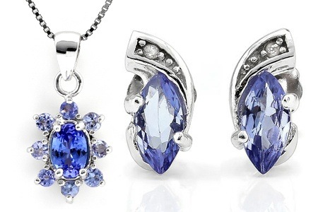 Tanzanite and Diamond Earrings or Oval Tanzanite Necklace from R659.99 Including Delivery (Up to 62% Off)
